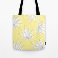 weed Tote Bags featuring weed by Estelle F