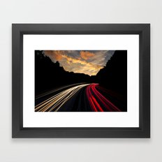 timelapse car red Framed Art Print