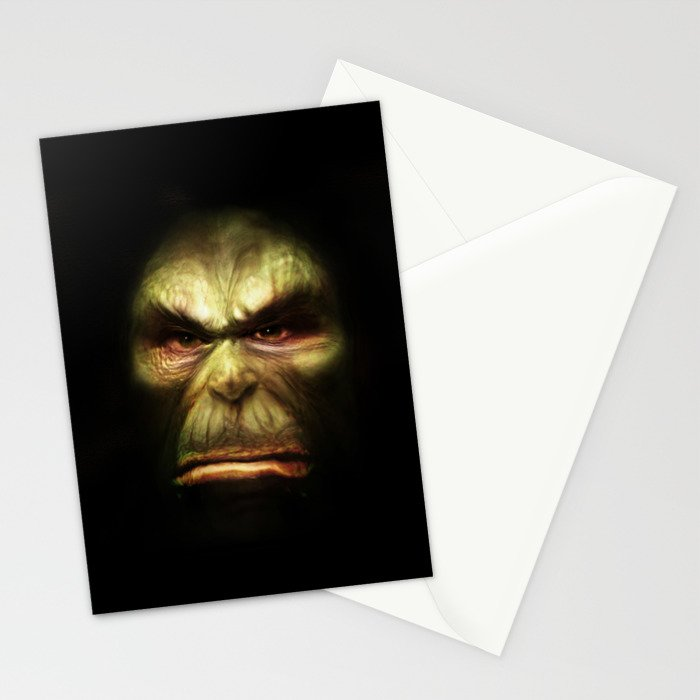 Orc face Stationery Cards