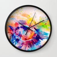 iris Wall Clocks featuring Iris by Kimsey Price