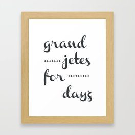 Grand Jetes Framed Art Print