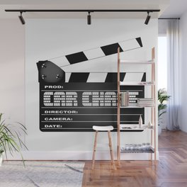 Car Chase Clapperboard Wall Mural