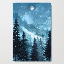 Winter Night Cutting Board