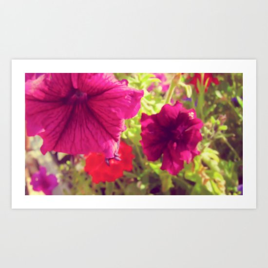 Floral Haze Art Print