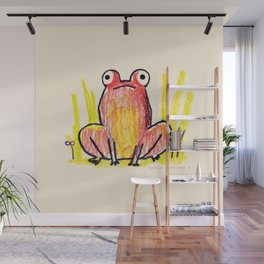 Red Frog Wall Mural