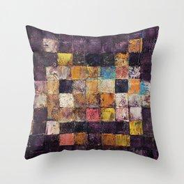 Purple Haze Invader Throw Pillow