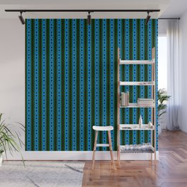 blue magic stripes pattern on the deep background Wall Mural
