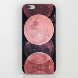 Pink Moon Phases iPhone Skin