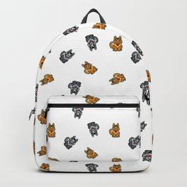 Yellow & Gray Dog Backpack