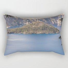 Wild Blue Lake Rectangular Pillow