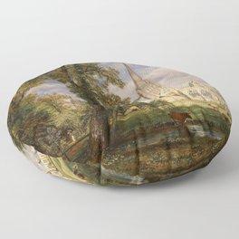 """John Constable """"Salisbury Cathedral from the Bishop's Garden"""" Floor Pillow"""