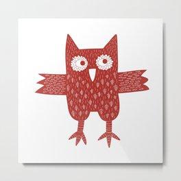 Red Owl Metal Print