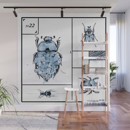 Bugs+Stones (Blue) Wall Mural