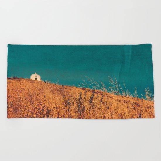 field landscape Beach Towel