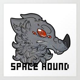 Space Hound Art Print