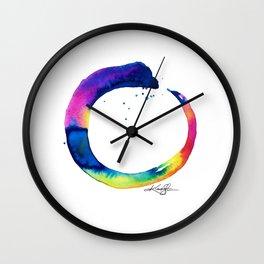 Enso Of Zen No. 16 by Kathy Morton Stanion Wall Clock