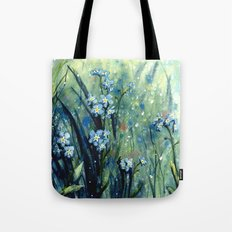 Forget me not flowers Tote Bag