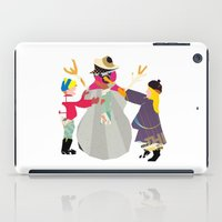 snowman iPad Cases featuring Snowman by Design4u Studio