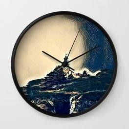 A Light In The Tempest Wall Clock