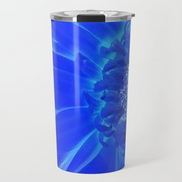 electric blue gerbera Travel Mug