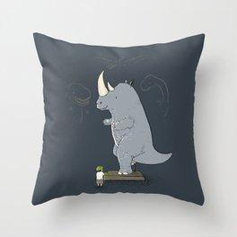 The Rhinosaurus Throw Pillow