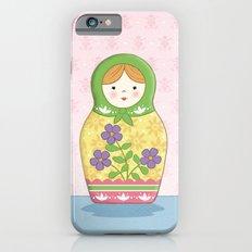 Matryoshka Doll (green & yellow) iPhone 6s Slim Case