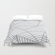 Abstraction Lines Zoom Grey Duvet Cover