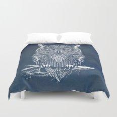 Warrior Owl Night Duvet Cover