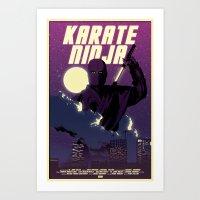 Karate Ninja Art Print