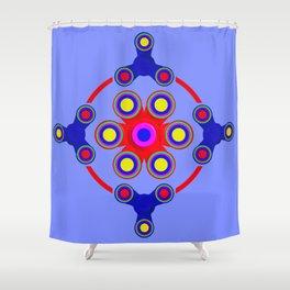 Fidget Spinner Design version 4 Shower Curtain