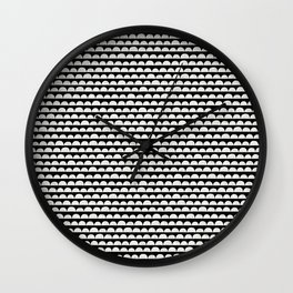White Clouds in The Black Sky Wall Clock