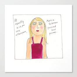 Marcia Goldman passed her prime Canvas Print