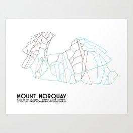 Mount Norquay, Alberta, Canada - Minimalist Trail Art Art Print