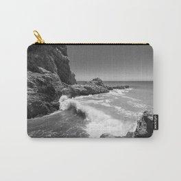Waves crash along Rancho Palos Verdes coastline Carry-All Pouch