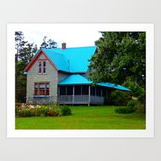 Ancestral Home by the Sea Art Print