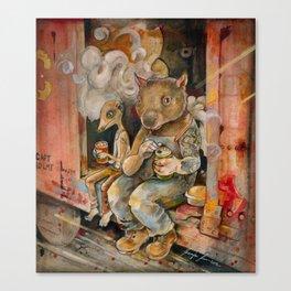 Meerkat and Wombat Canvas Print
