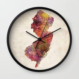 New Jersey map Wall Clock