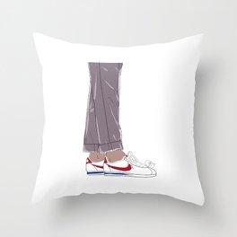 Sneakers Cortez Throw Pillow