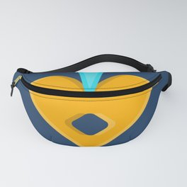 Simple Bling - Modern Bold Abstract Carnival Glass Fanny Pack