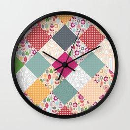 paper cut flower diamonds Wall Clock