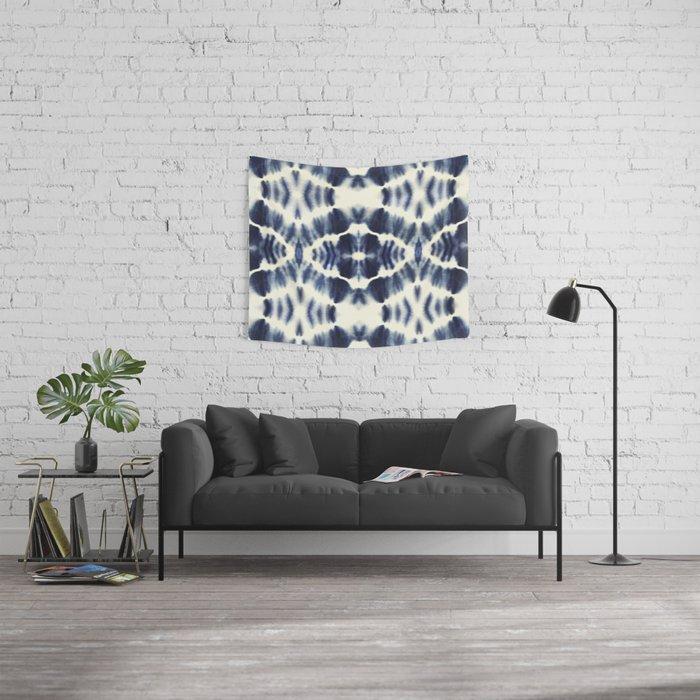 BOHEMIAN INDIGO BLUE Wall Tapestry