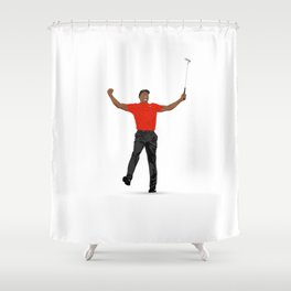 Tiger Woods Masters Champ (White) Shower Curtain