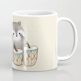 Raccoon on Bongos Coffee Mug