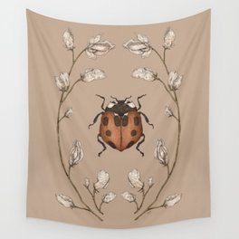The Ladybug and Sweet Pea Wall Tapestry