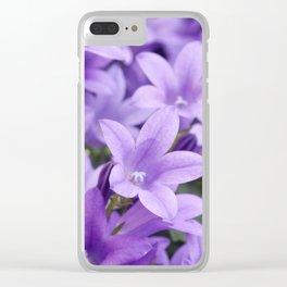 DREAMY - Purple flowers - Bellflower in the sun #1 Clear iPhone Case
