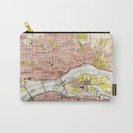 Vintage Map of Davenport Iowa (1953) Carry-All Pouch