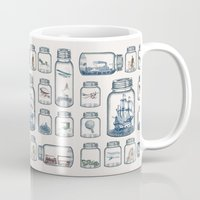 hot Mugs featuring Vintage Preservation by Paula Belle Flores