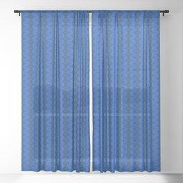 Blue Pattern Sheer Curtain