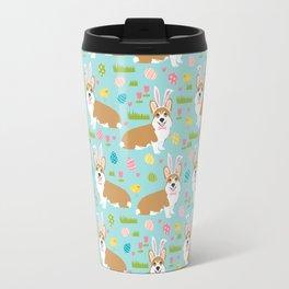 Corgis Easter - cute pastel spring corgi fabric Travel Mug