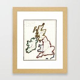 Vintage Map of The British Isles (1860) Framed Art Print